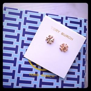 BNWT Tory Burch gold stud earrings